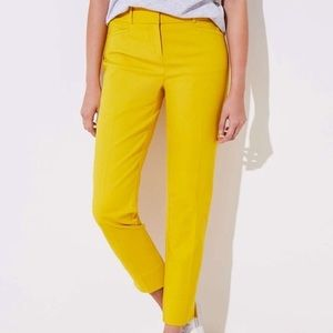 LOFT Julie The Riviera Pants in Yellow